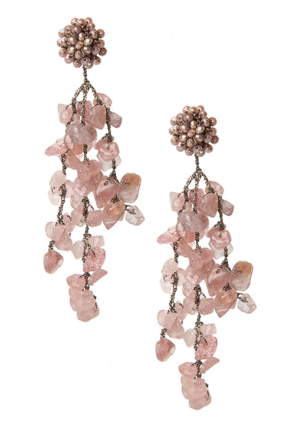 Weathered Cluster Drop Earring