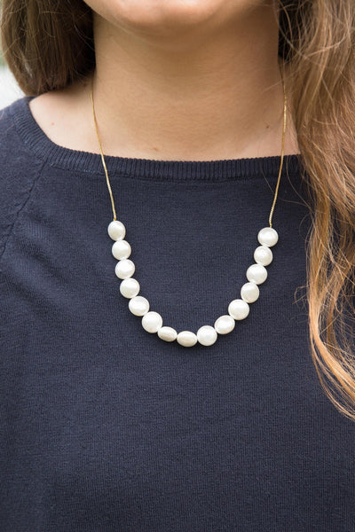 Motee Long Pearl Necklace