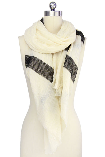 Sequined Striped Scarf