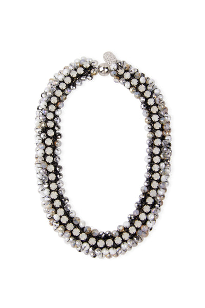 Beaded Cluster Collar Necklace
