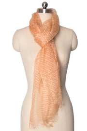 Peach Sheer Scarf