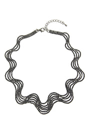 Crystal Wave Statement Necklac