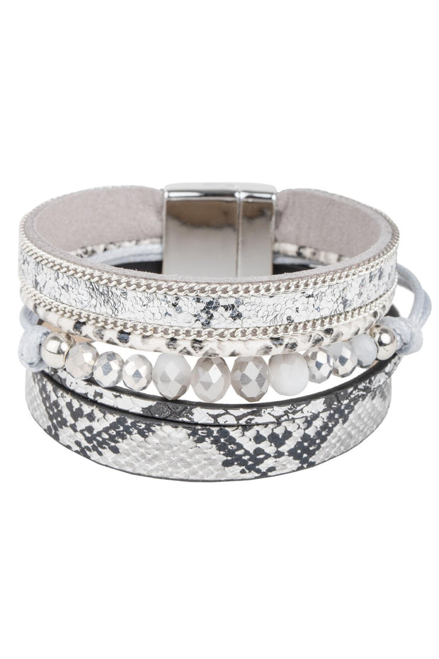 Boa Beaded Leather Bracelet