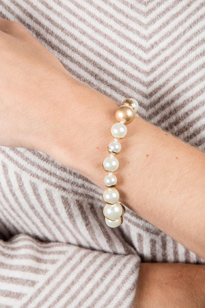 Single Moon Pearl Bracelet