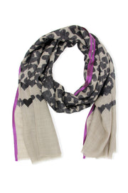 Heart Striped Scarf