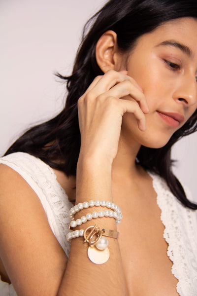 Wrapped Up Pearl Bracelet
