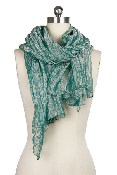 Silk Metallic Lightweight Scarf