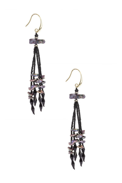 Shimmer Dangle Pearl Earring
