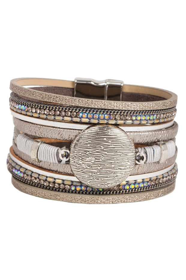 Optical Leather Bracelet