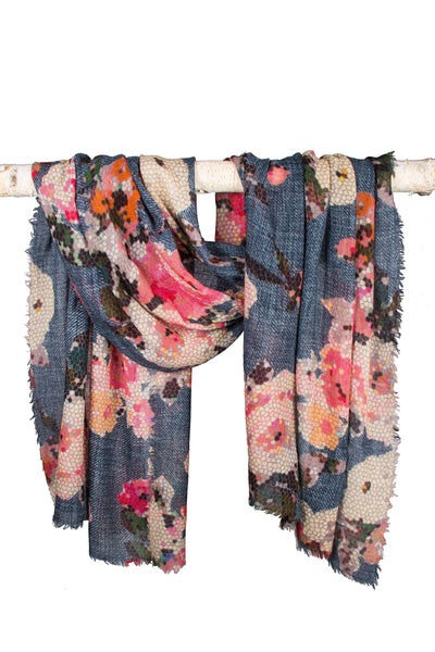Mosaic Floral Scarf