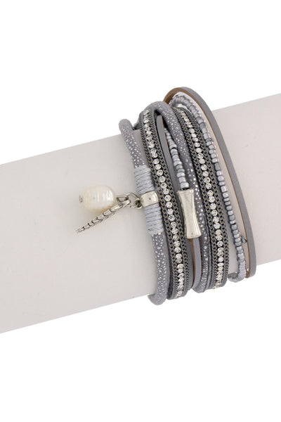 Sacramento Leather Wrap Bracelet
