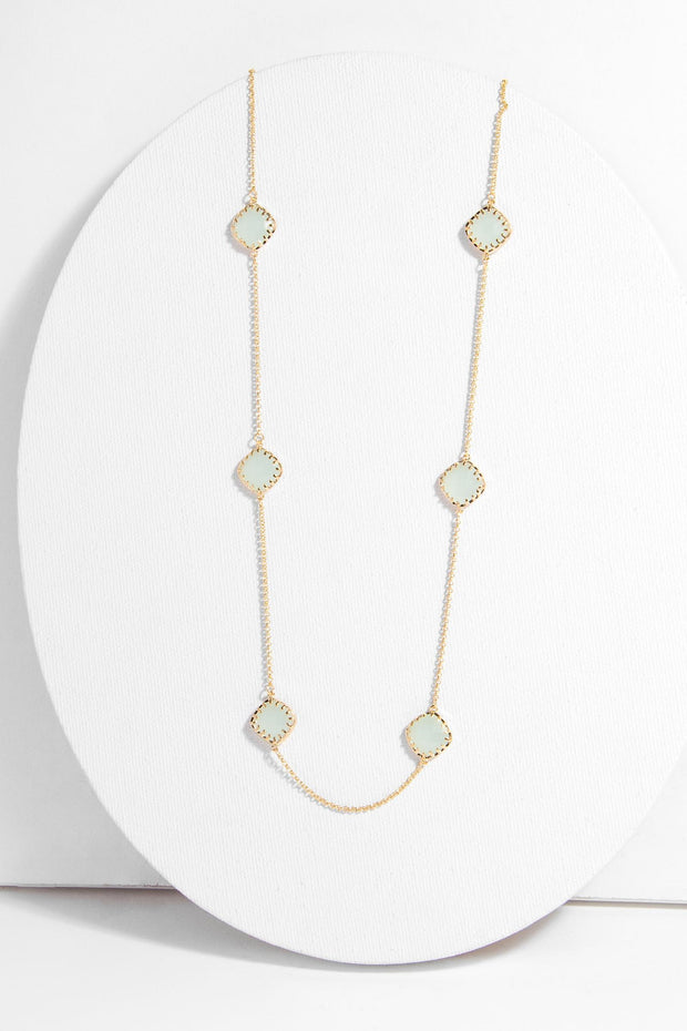 Gold Drop Long Necklace
