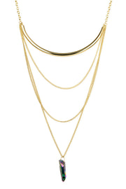 Pendant Layered Chain Necklace