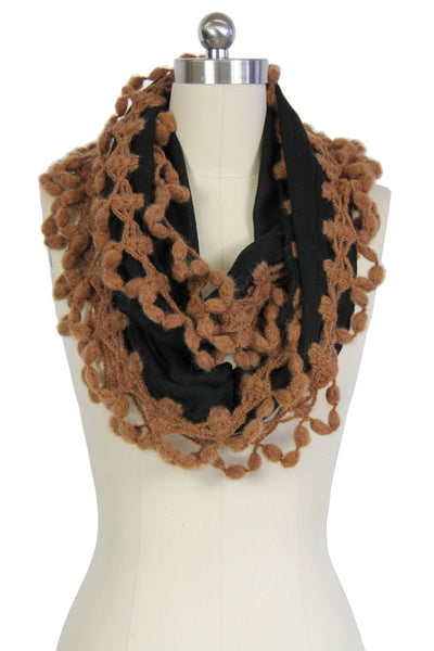 Double Sided Trim Infinity Scarf
