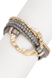 Earthly Flow Leather Bracelet