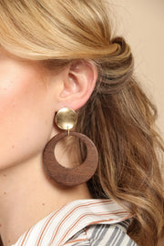 Wonder Wooden Statement Earring