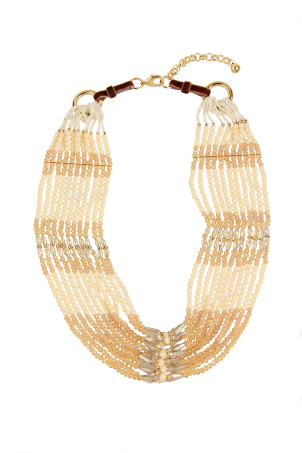 Layered Beaded Statement Necklace