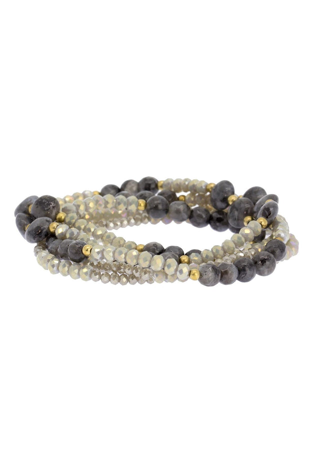 Smize Beaded Stretch Bracelet