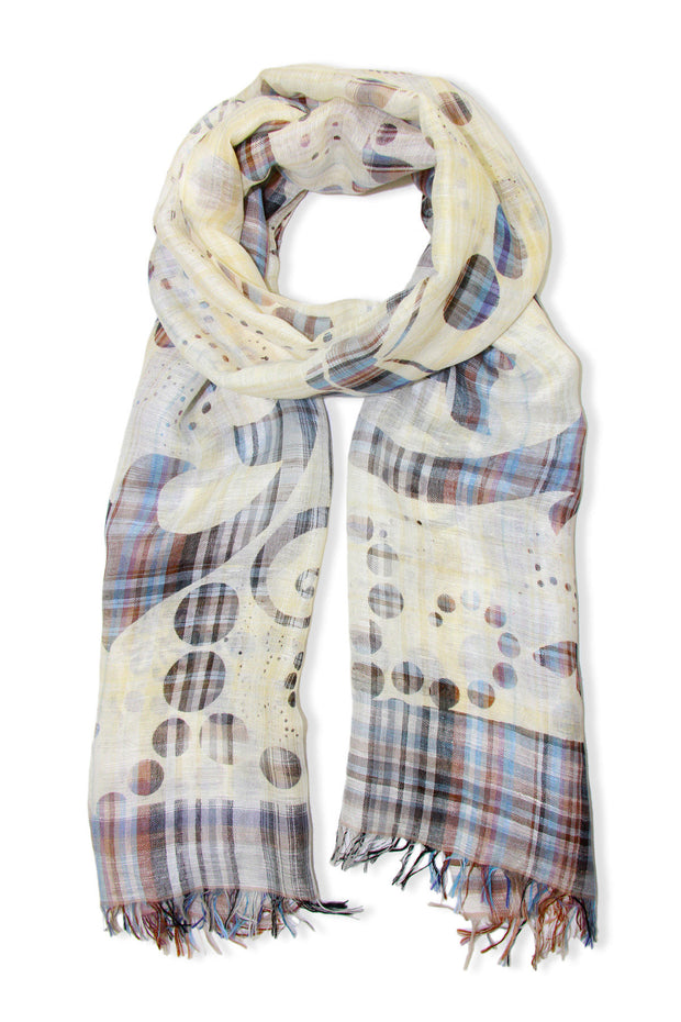 Celestia Mixed Plaid Scarf