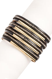 Razzle Dazzle Leather Bracelet