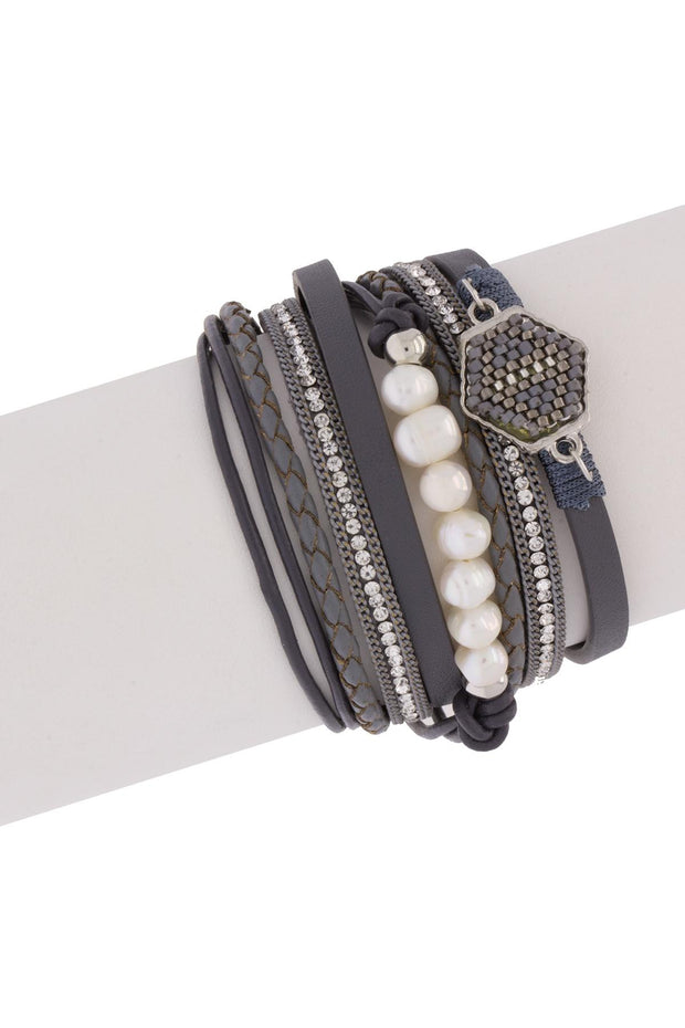 Dream Leather Pearl Bracelet