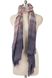 Queens Plaid Wool Ombre Scarf