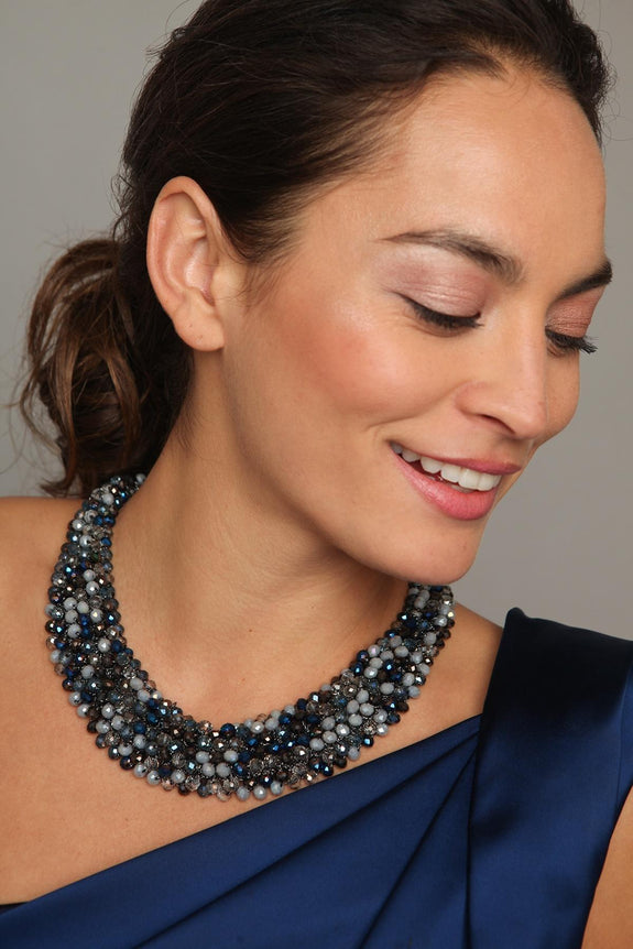 Dappled Beaded Collar Necklace