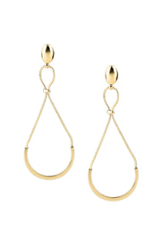 Gold Infinity Drop Earring