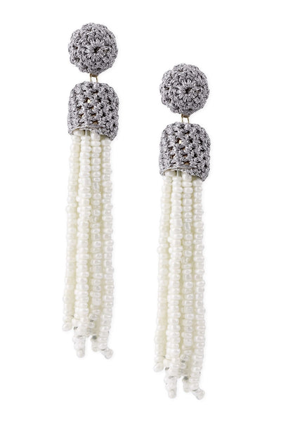 Bridal Crochet Tassel Earrings