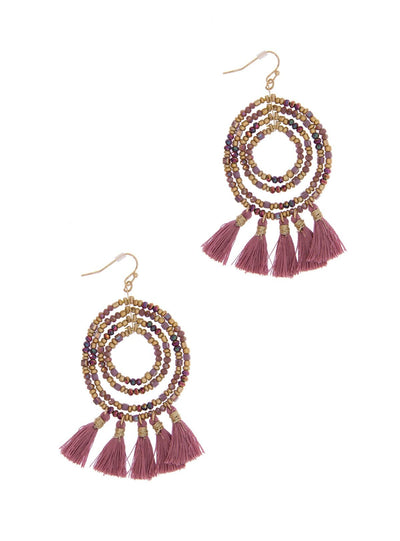 Varkala Beaded Hoop Earring