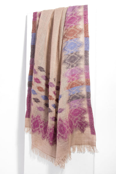 Colored Ikat Print Scarf