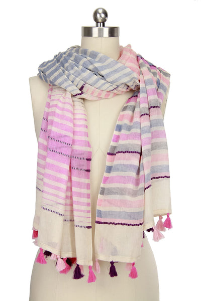 Verity Multi Colored Striped Scarf