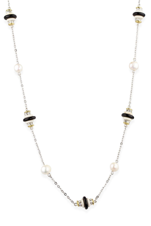 Long Sylvia Beaded Pearl Necklace