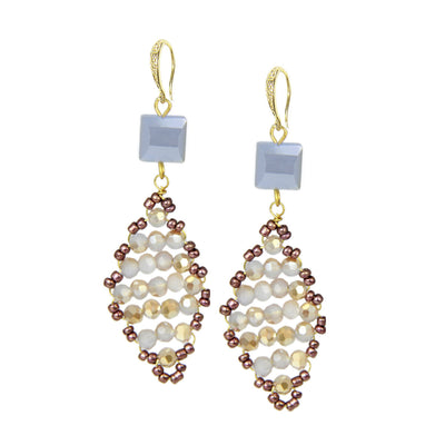 Danica Diamond Beaded Earring