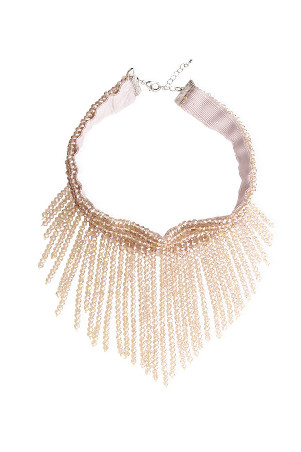 Striking Crystal Beaded Statement Choker Necklace