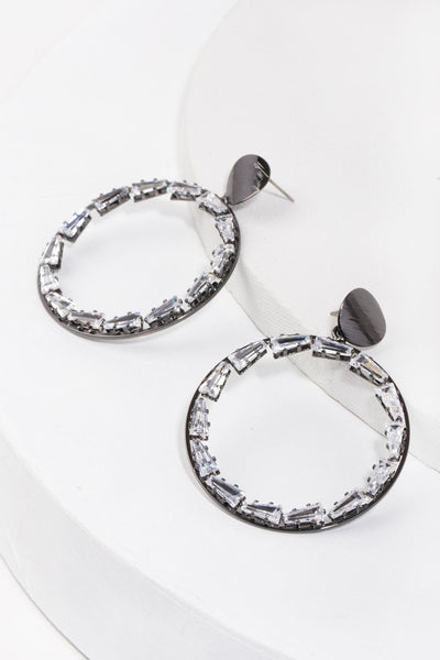 Crystal Circle Earring