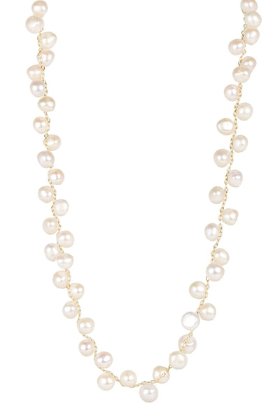 Ladder Long Pearl Necklace