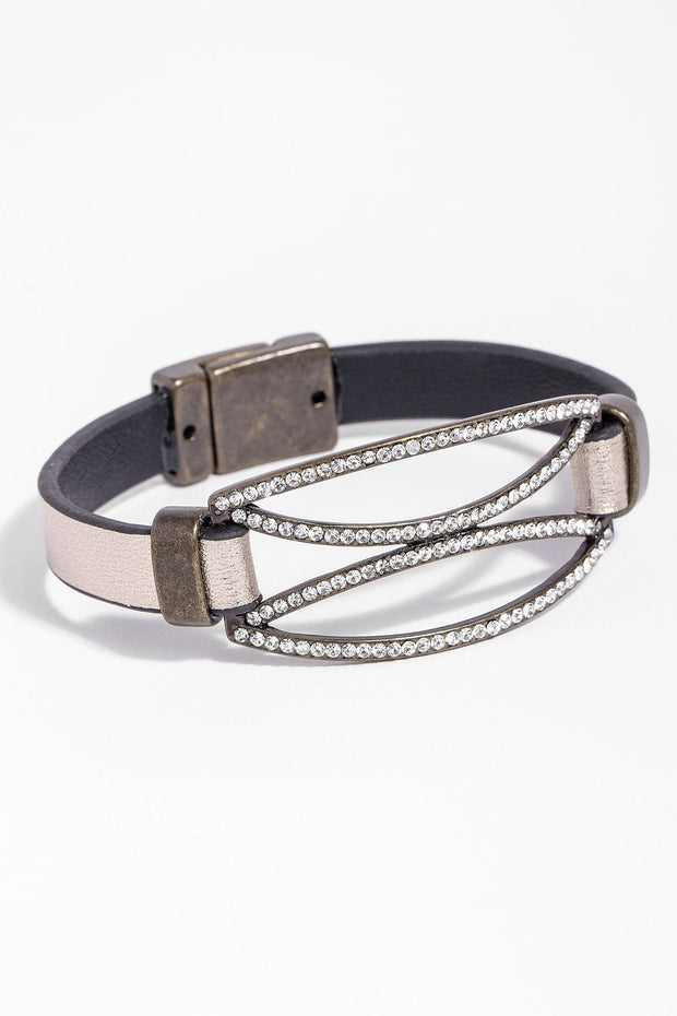 Carolina Leather Crystal Brace