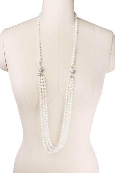 Pearl Crystal Detachable Necklace