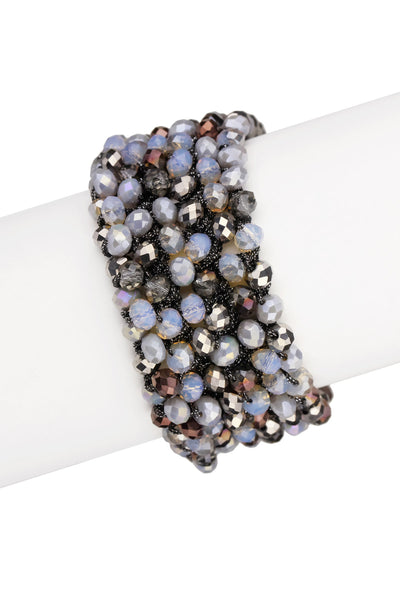 Multi Beaded Dappled Bracelet
