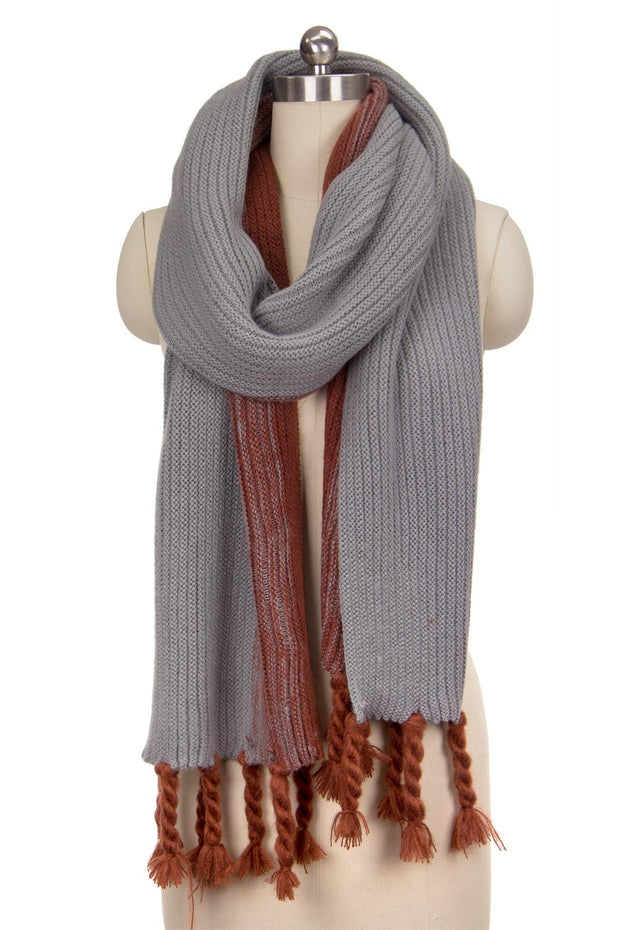 Stream Rib Knit Scarf