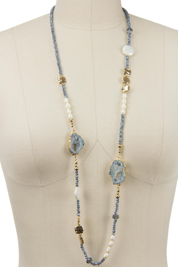 Calypso Stone Beaded Necklace