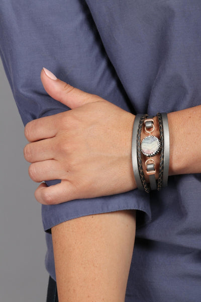 Estelle Agate Leather Bracelet