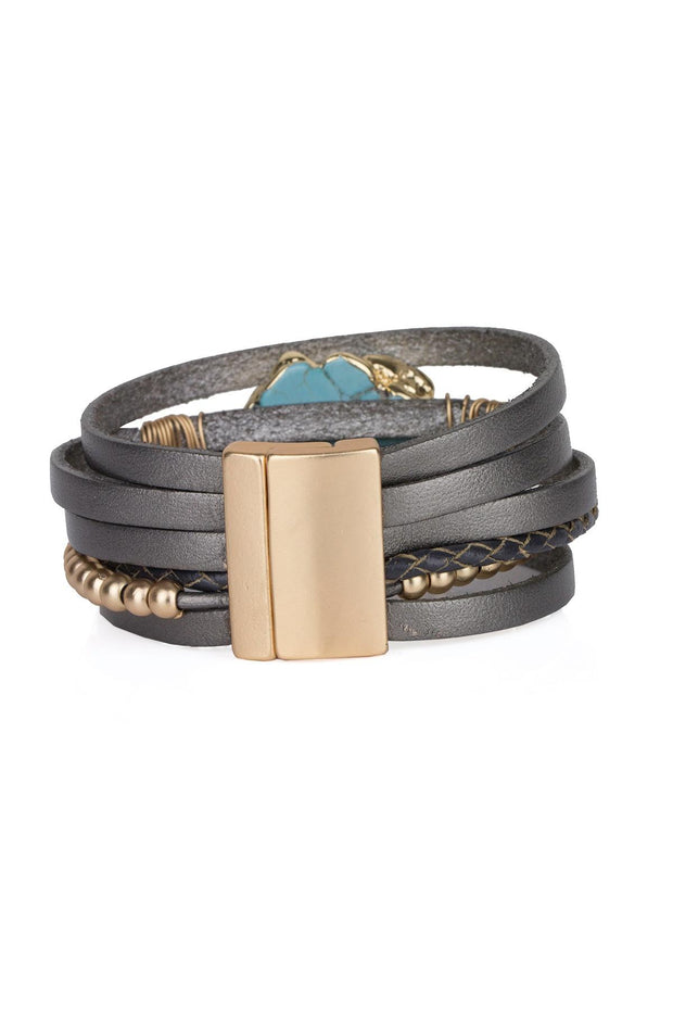 Playa Leather Wrap Bracelet