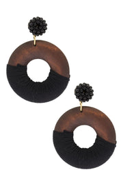 Hiro Circle Drop Earrings
