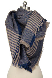 Galway Oversized Striped Scarf