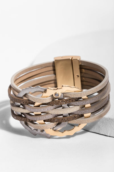 Intertwined Leather Bracelet