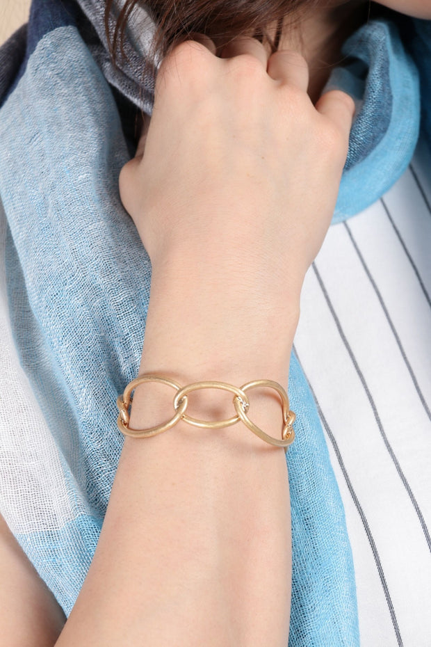 Squiggle Linked Cuff Bracelet