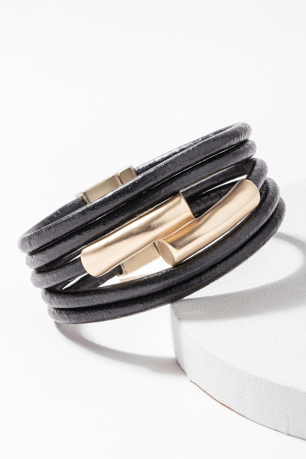 Tube Leather Bracelet