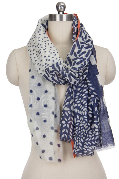 Swirls and Dots Scatter Silk Scarf